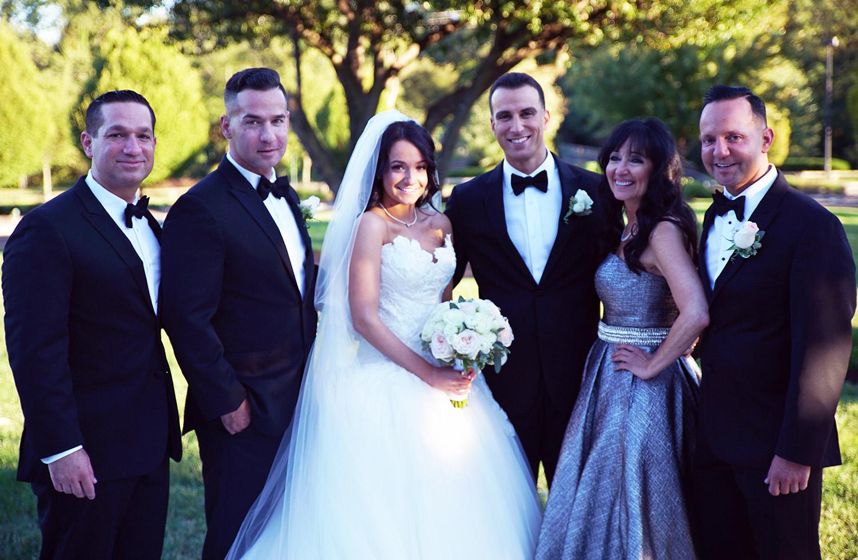 Melissa's wedding ceremony.