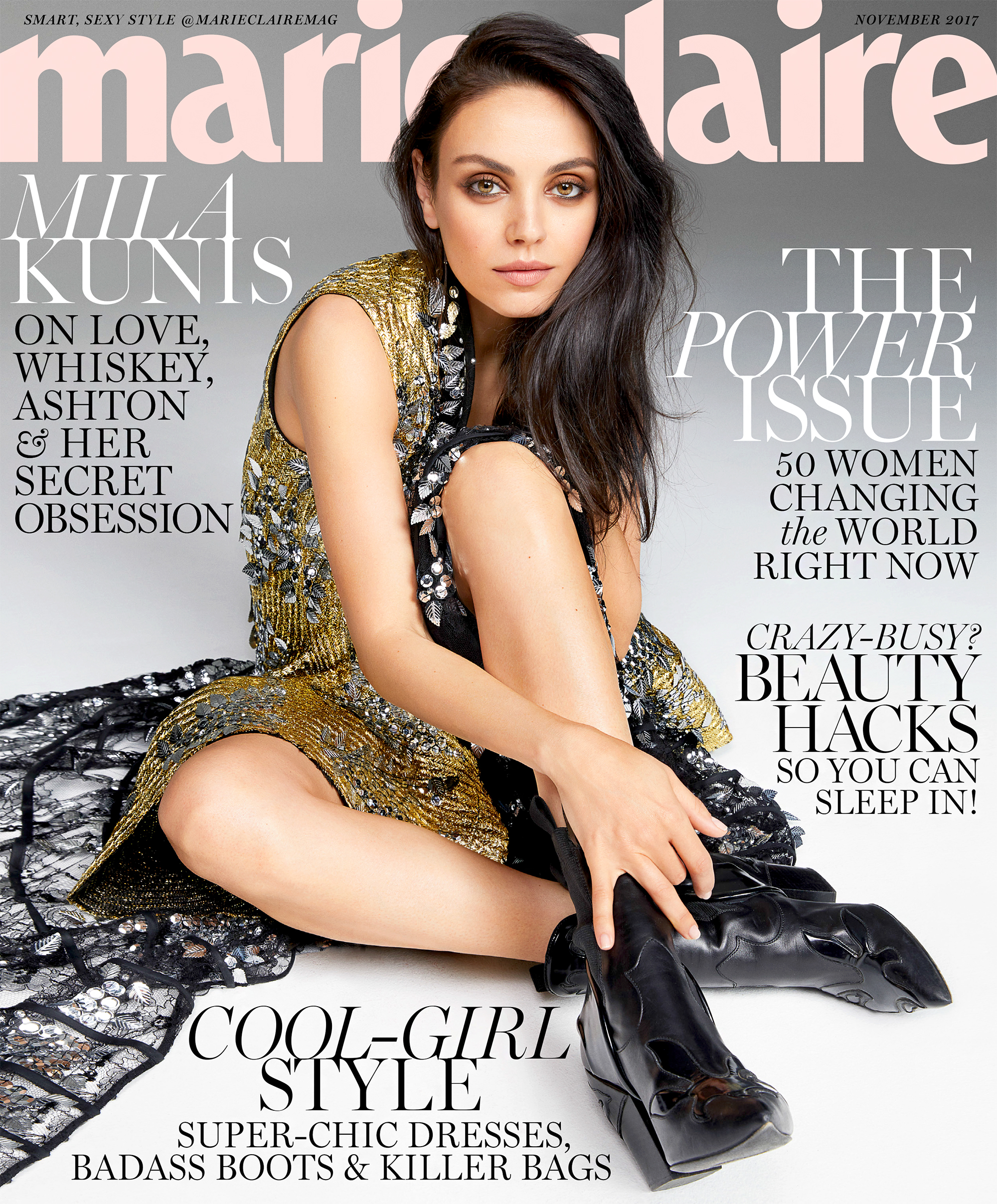 Mila Kunis on Marie Claire Cover