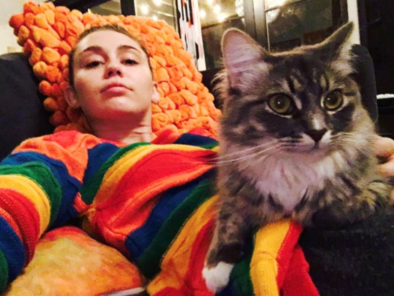 Miley Cyrus and Cat