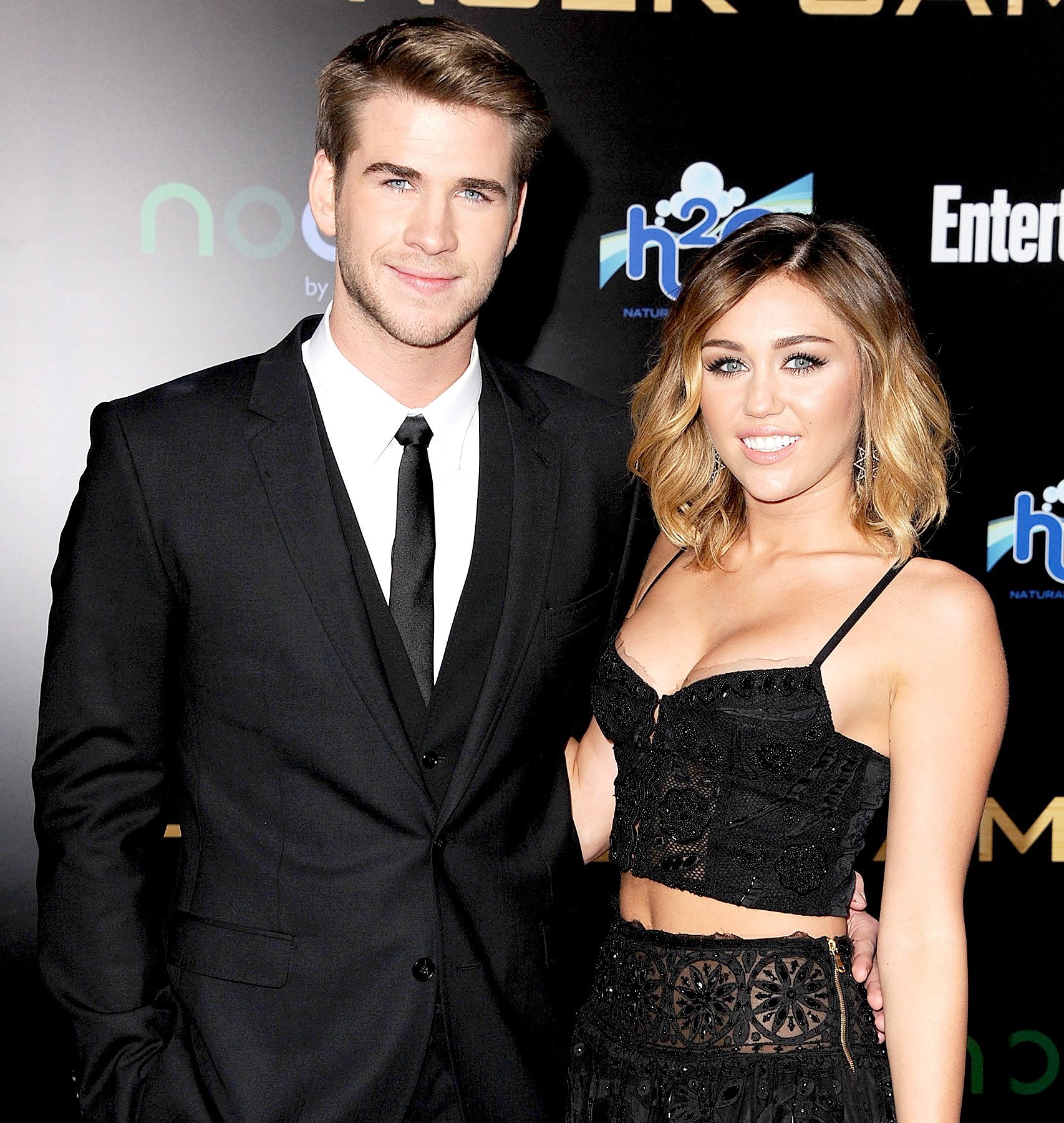 "Liam Hemsworth and Miley Cyrus attends ""The Hunger Games"" Los Angeles Premiere on March 12, 2012 in Los Angeles, United States."