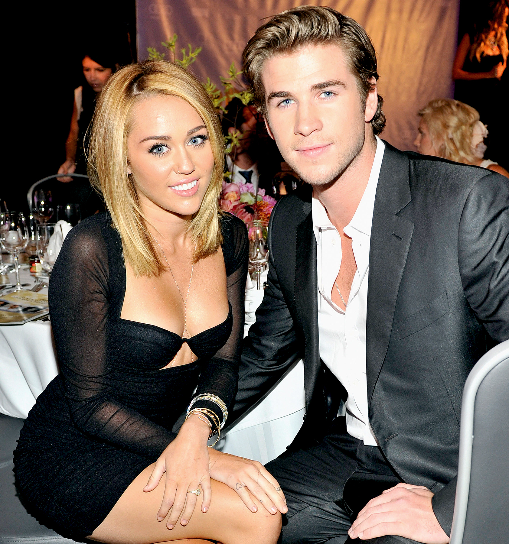 Miley Cyrus and Liam Hemsworth attend Australians In Film Awards & Benefit Dinner at InterContinental Hotel on June 27, 2012 in Century City, California.