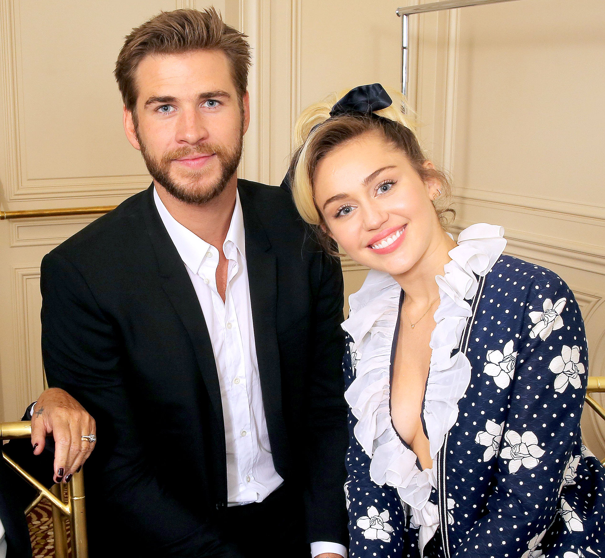 Liam Hemsworth and Miley Cyrus Variety's Power of Women Presented by Lifetime, October 14, 2016.