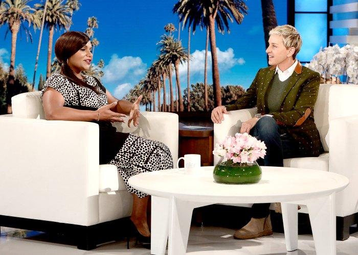 Mindy Kaling and Ellen DeGeneres