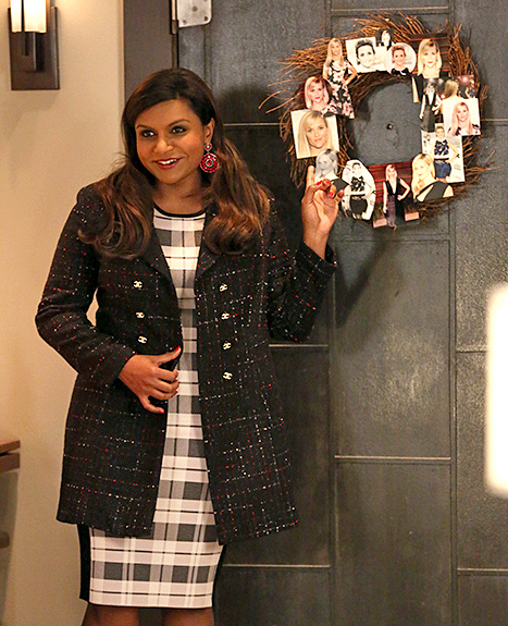 Mindy Kaling - Christmas outfits