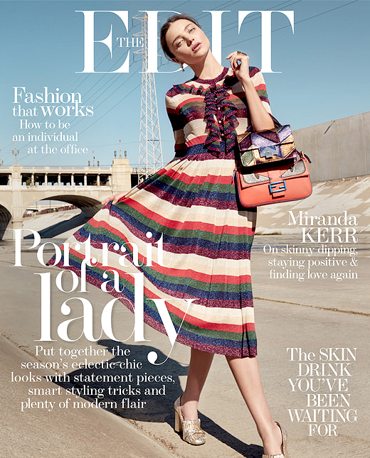 Miranda Kerr on the cover of The Edit