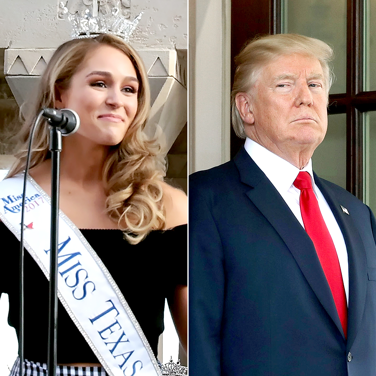 Miss Texas Margana Wood and Donald Trump