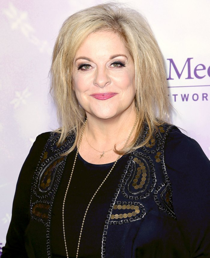 Nancy Grace attends the Hallmark Channel and Hallmark Movies and Mysteries Winter 2016 TCA press tour at Tournament House on January 8, 2016.