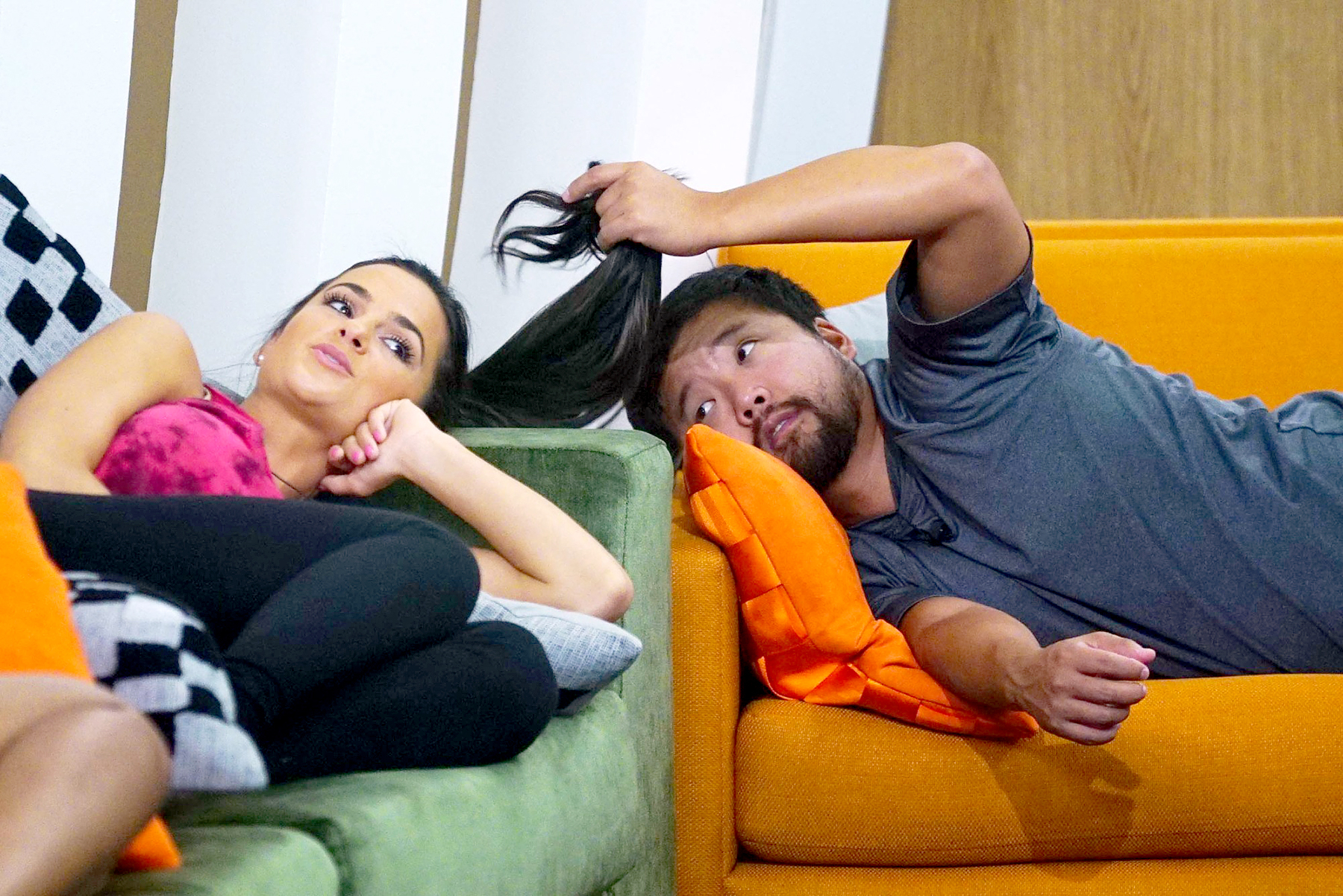 Nicole Negrotti and James Huling on Big Brother.