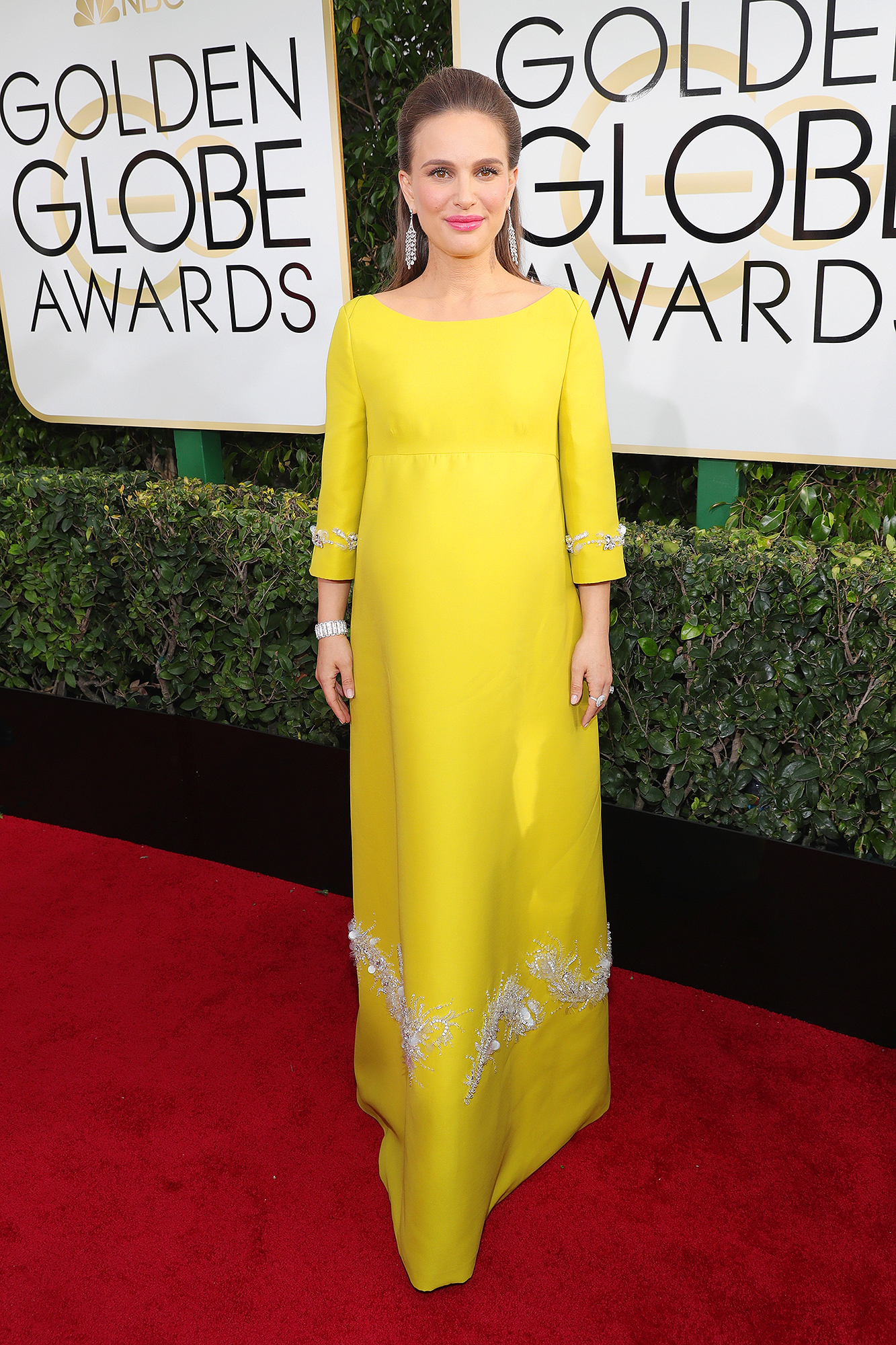 e93a3b1e2860 Natalie Portman arrives at the 74th Annual Golden Globe Awards held at the  Beverly Hilton on Jan. 8