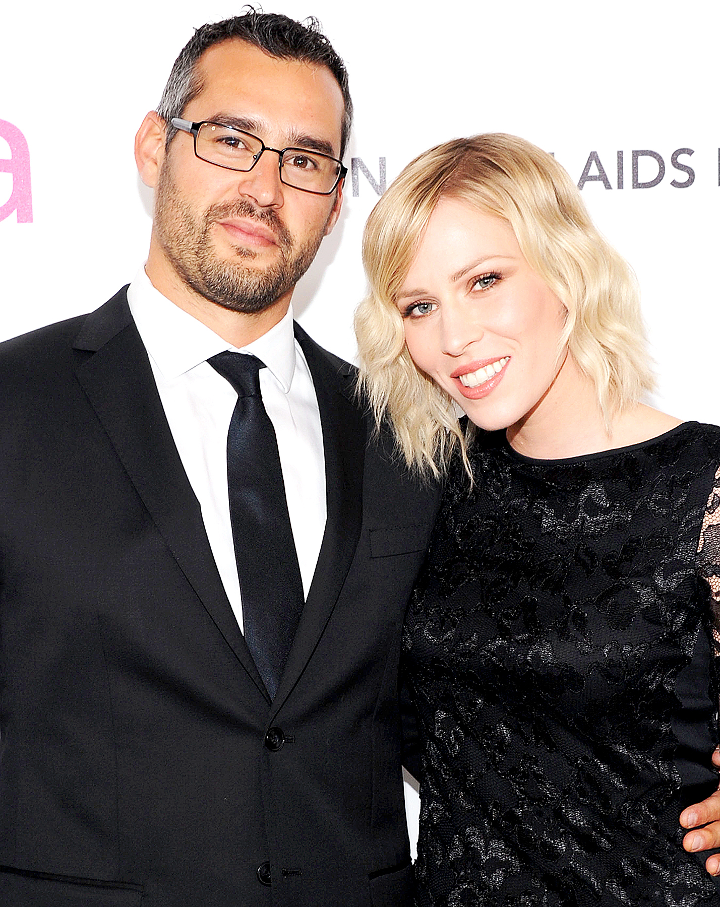 Matt Robinson and Natasha Bedingfield arrive at the 20th Annual Elton John AIDS Foundation Academy Awards Viewing Party at The City of West Hollywood Park on February 26, 2012 in Beverly Hills, California.