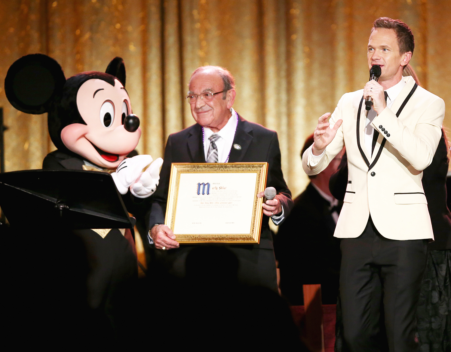 Mickey Mouse, Marty Sklar and Neil Patrick Harris