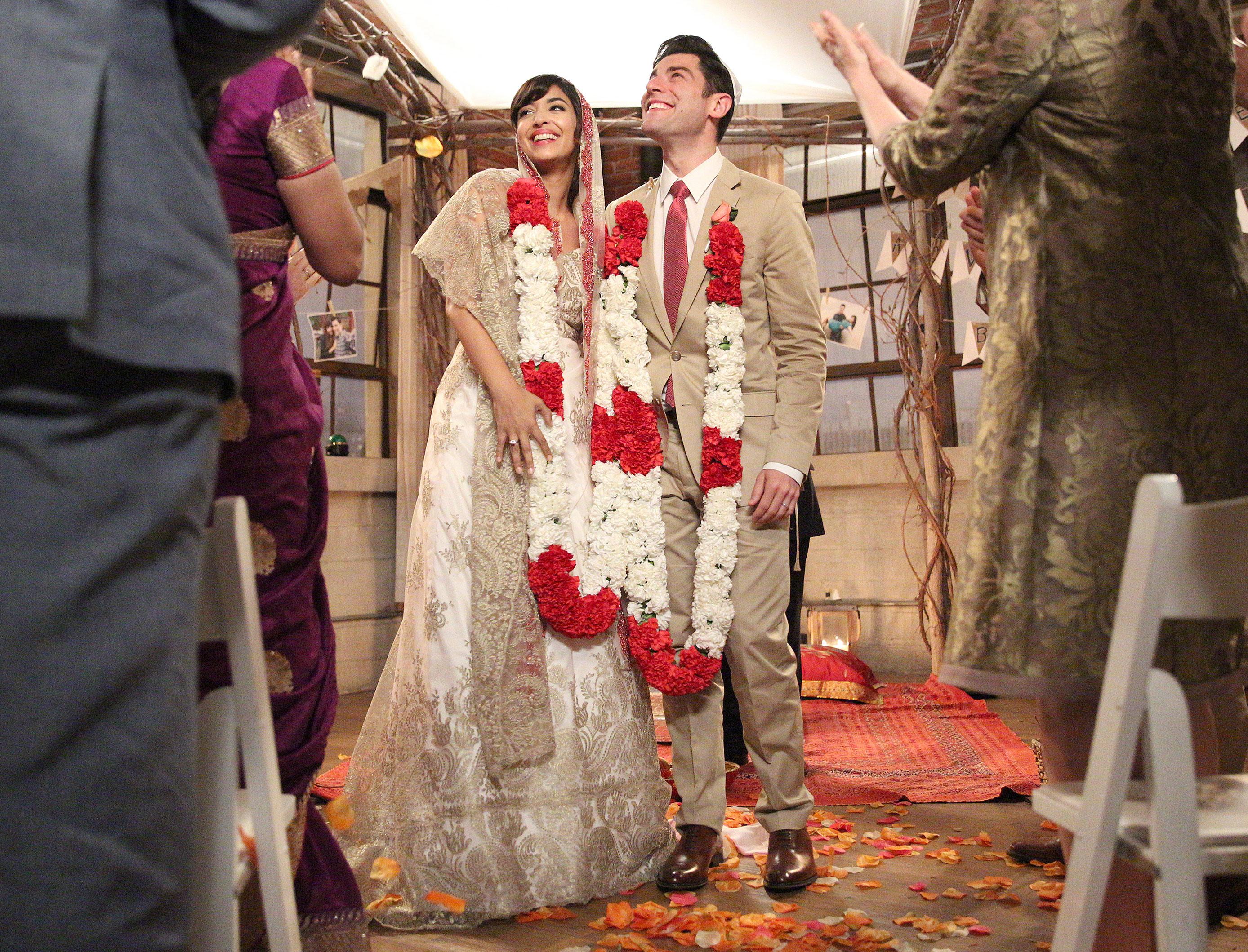 Cece and Schmidt Marry on \'New Girl\': Wedding Dress Details