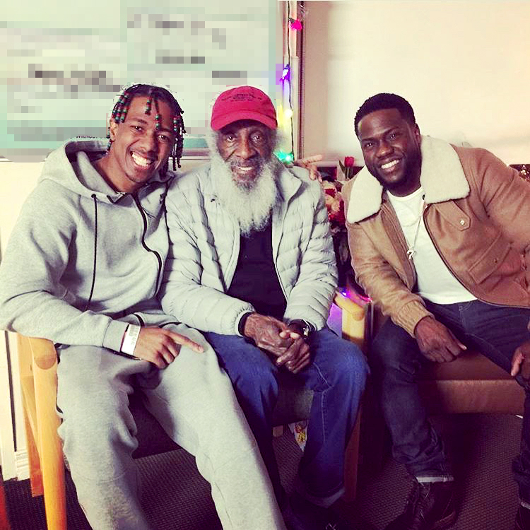 Nick Cannon, Dick Gregory and Kevin Hart