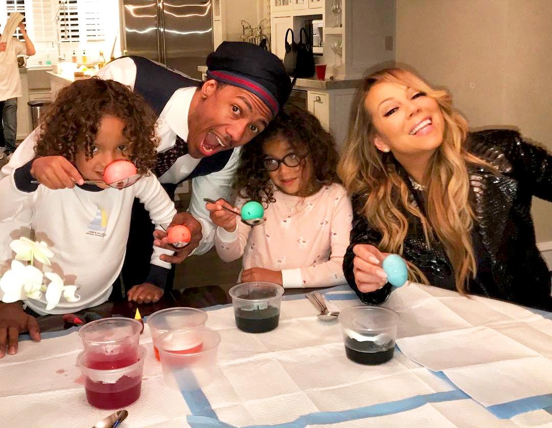 Mariah Carey, Nick Cannon, Monroe and Moroccan
