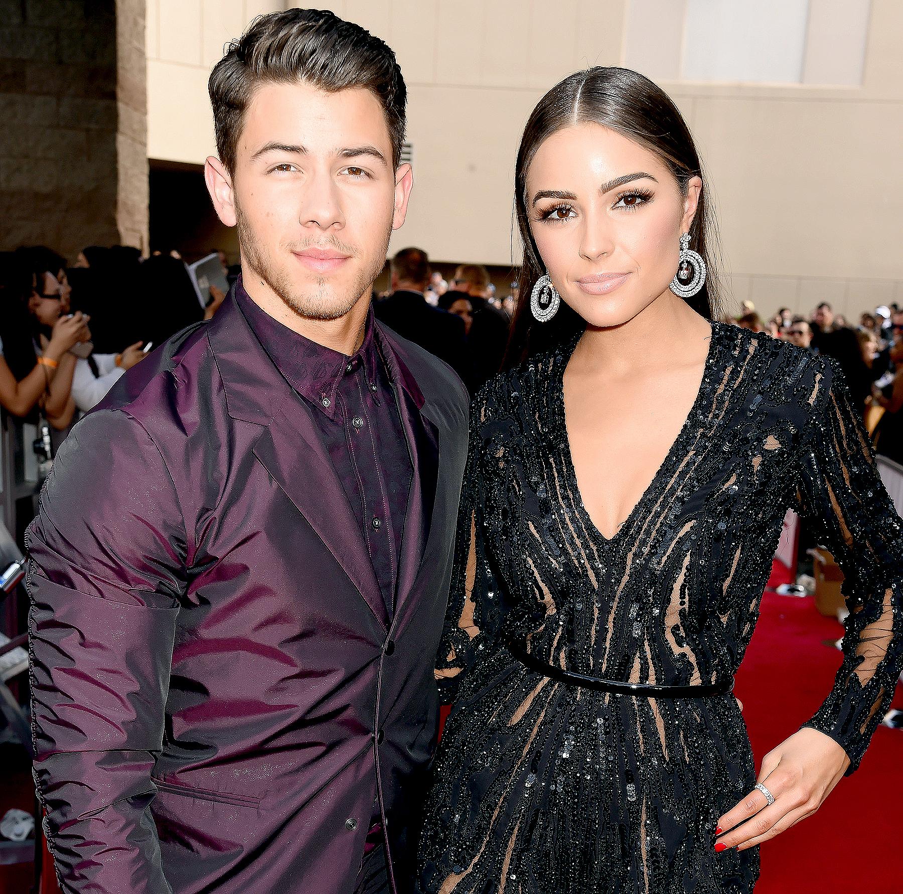 Nick Jonas and Olivia Culpo attend the 2015 Billboard Music Awards.