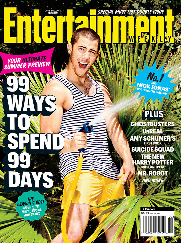Nick Jonas on the cover of Entertainment Weekly