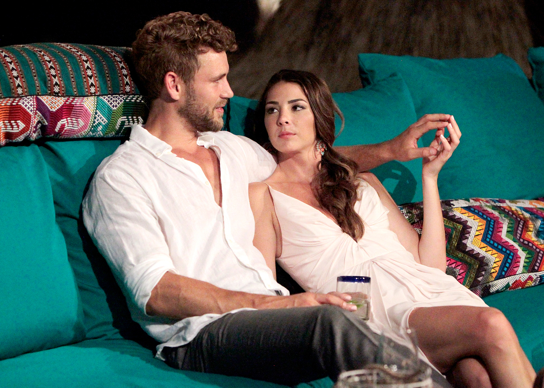 Nick and Jen on Bachelor in Paradise.