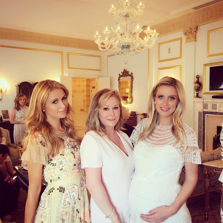 Paris Hilton, Kathy Hilton and Nicky Hilton (from left).