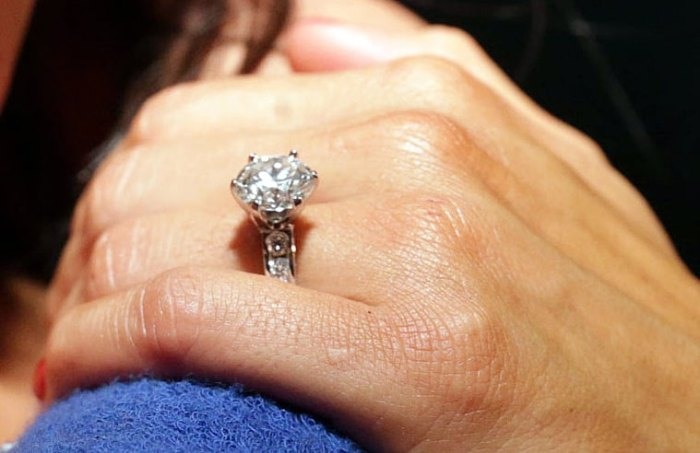 Nikki Bella's engagement ring from John Cena.