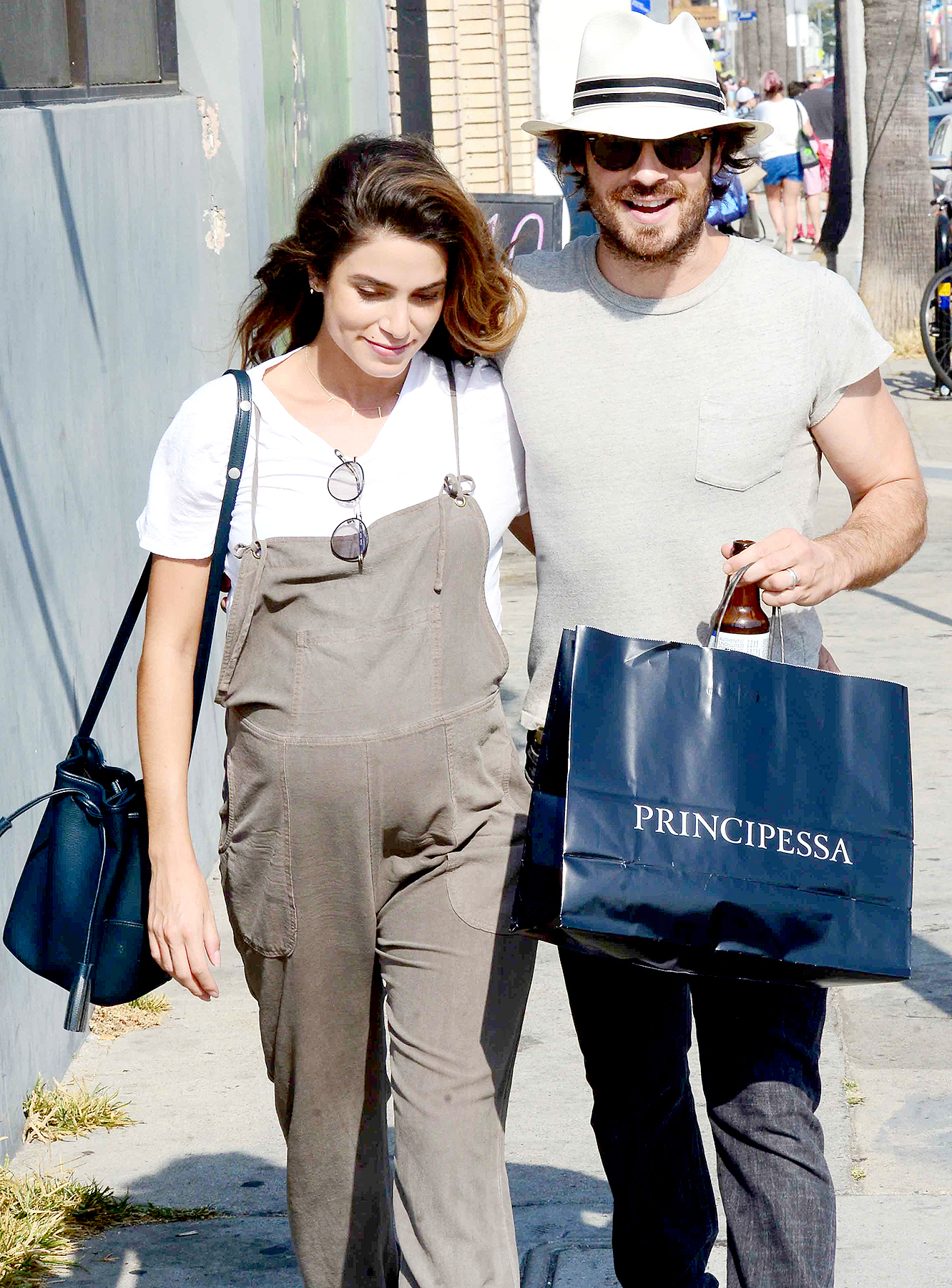 Pregnant nikki reed cuddles up to ian somerhalder for sunday stroll ian somerhalder and nikki reed walk along abbot kinney boulevard in venice ca on july m4hsunfo