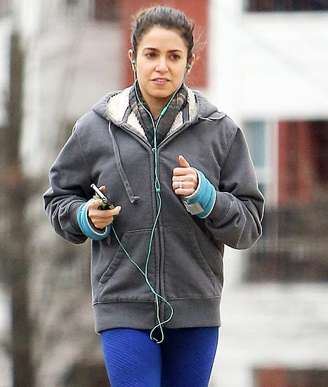 nikki jogging wearing ring