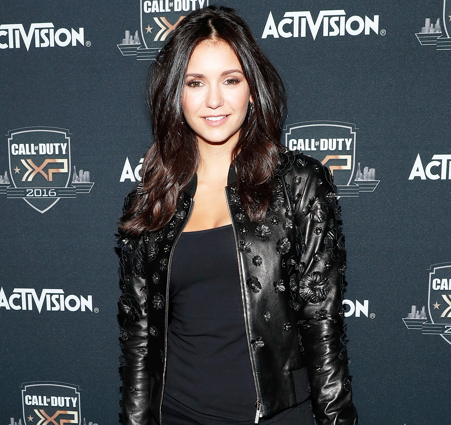 Nina Dobrev at the 'Call of Duty: Infinite Warfare' event in L.A.