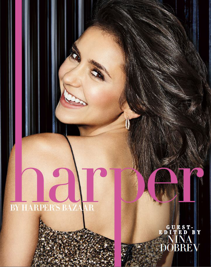 Nina Dobrev on the cover of Harper's Bazaar