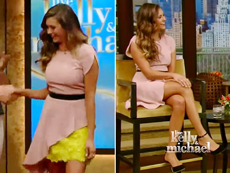 nina dobrev on live with kelly and michael