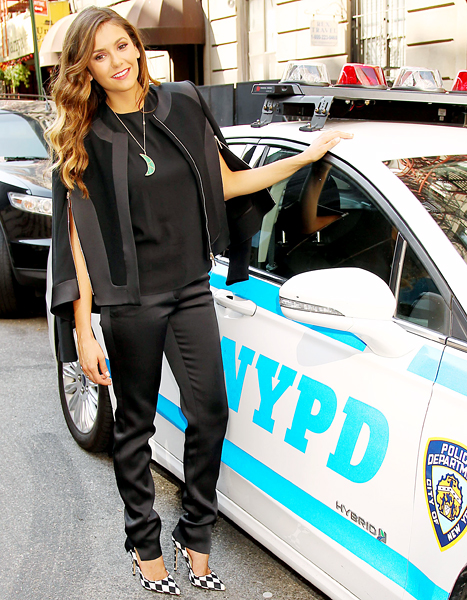 nina dobrev with nypd