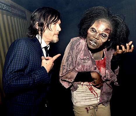 Norman Reedus and Zombie