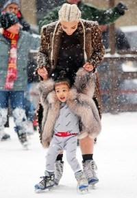 North West Kim Kardashian ice skating