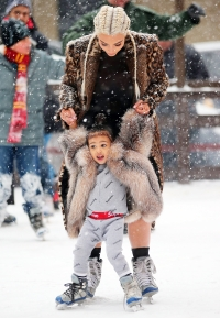 North West Kim Kardashian ice skating