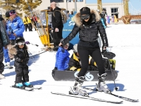 North West Kim Kardashian skiing
