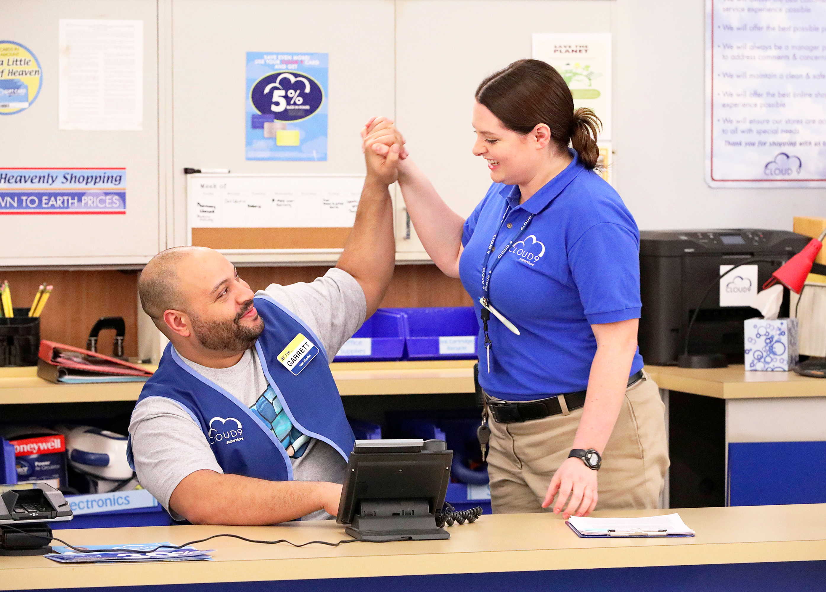 Colton Dunn and Lauren Ash Superstore