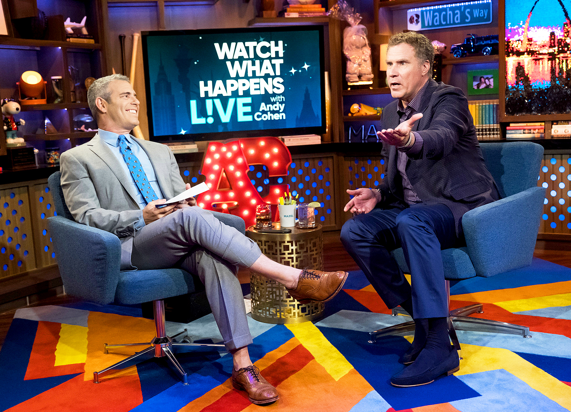 Will Ferrell and Andy Cohen Watch What Happens Live
