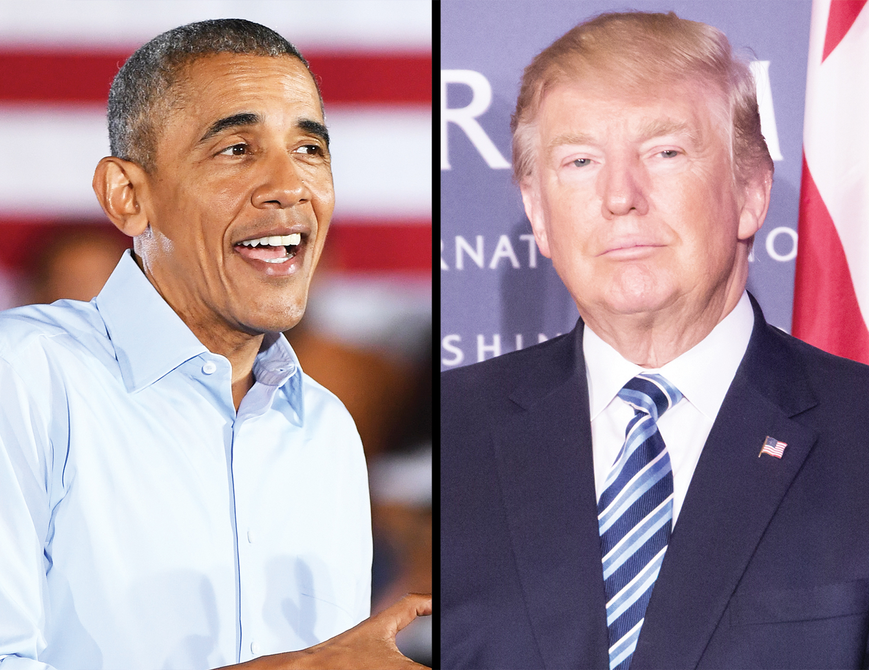 President Obama and Donald Trump