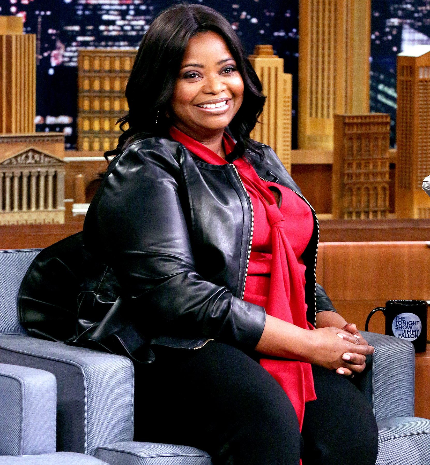 Octavia Spencer during an interview on The Tonight Show with Jimmy Fallon, March 2, 2017