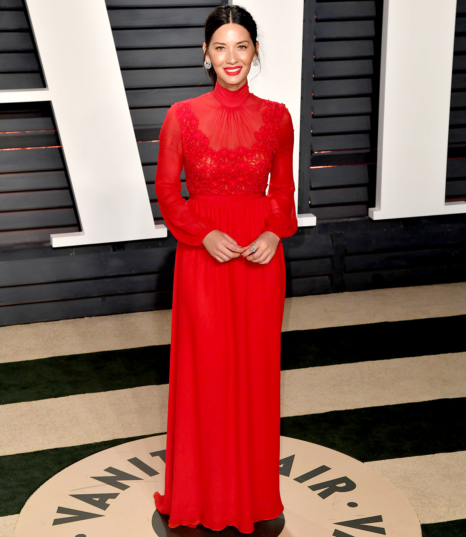 Olivia Munn attends the 2017 'Vanity Fair' Oscar party hosted by Graydon Carter at the Wallis Annenberg Center for the Performing Arts on Feb. 26, 2017, in Beverly Hills.