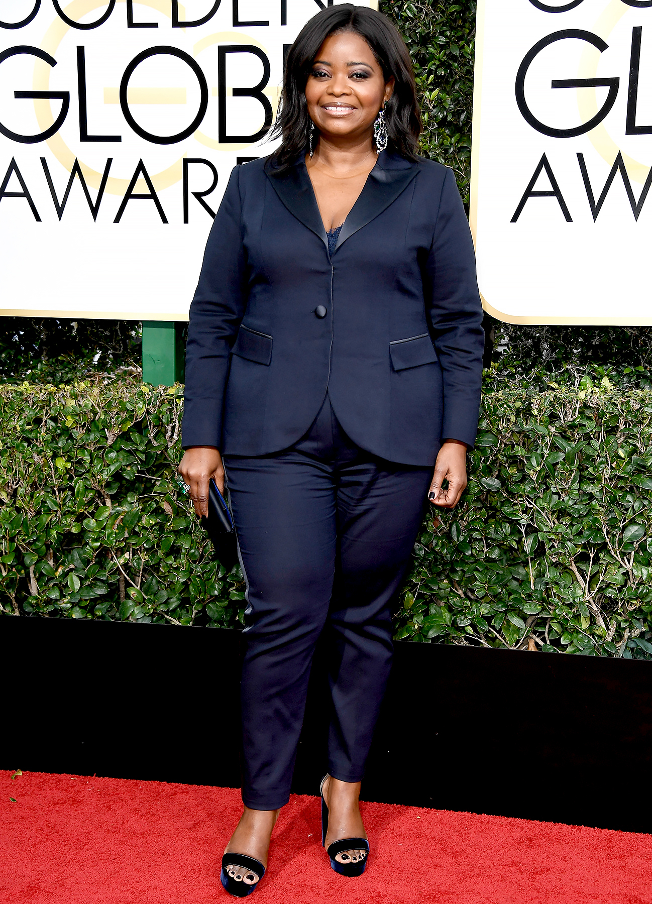 Octavia Spencer attends the 74th Annual Golden Globe Awards at The Beverly Hilton Hotel on January 8, 2017 in Beverly Hills, California.