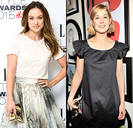 Olivia Wilde and Rosamund Pike - Anya Hindmarch Crisp Packet Bag