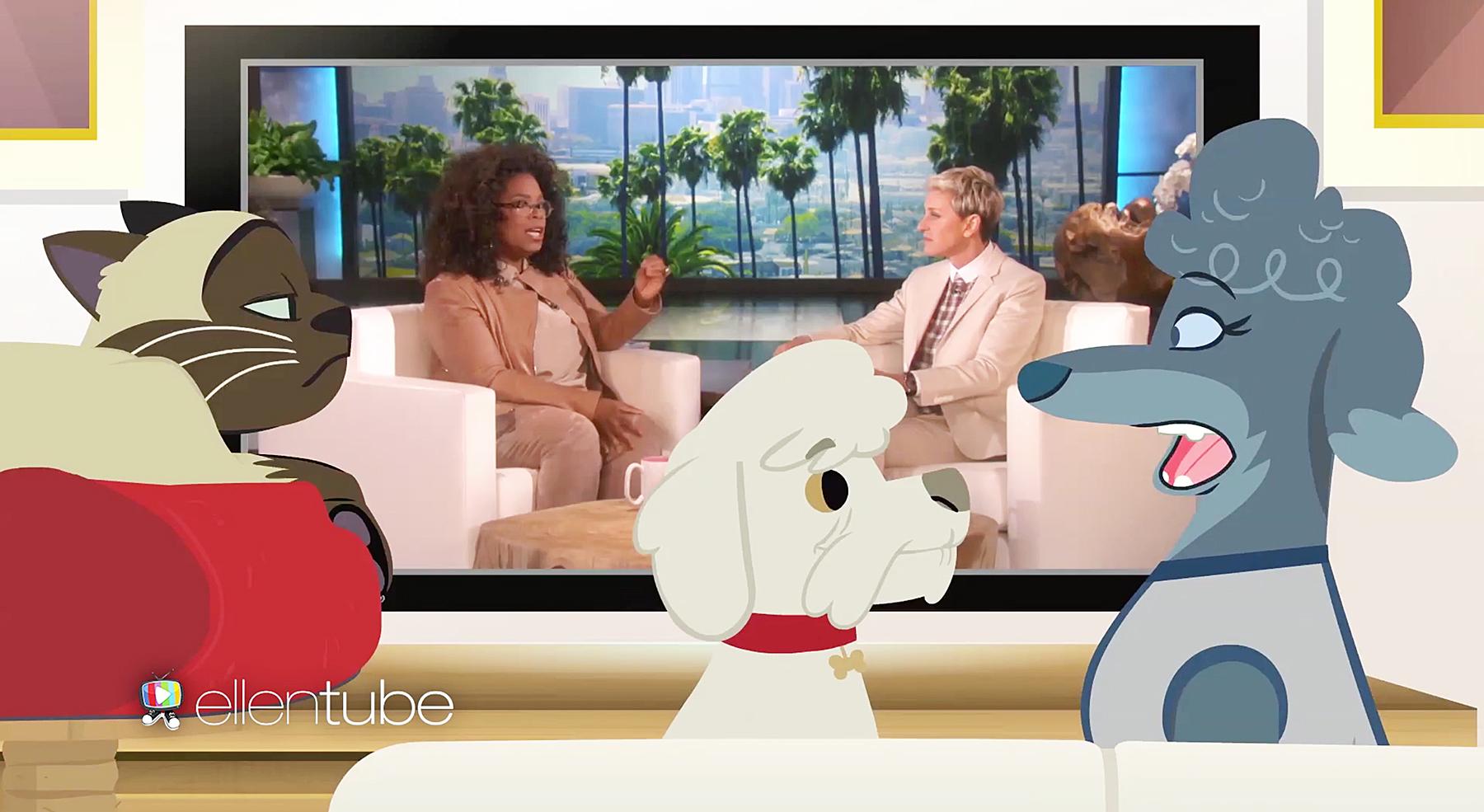 Oprah Winfrey Ellen DeGeneres pets