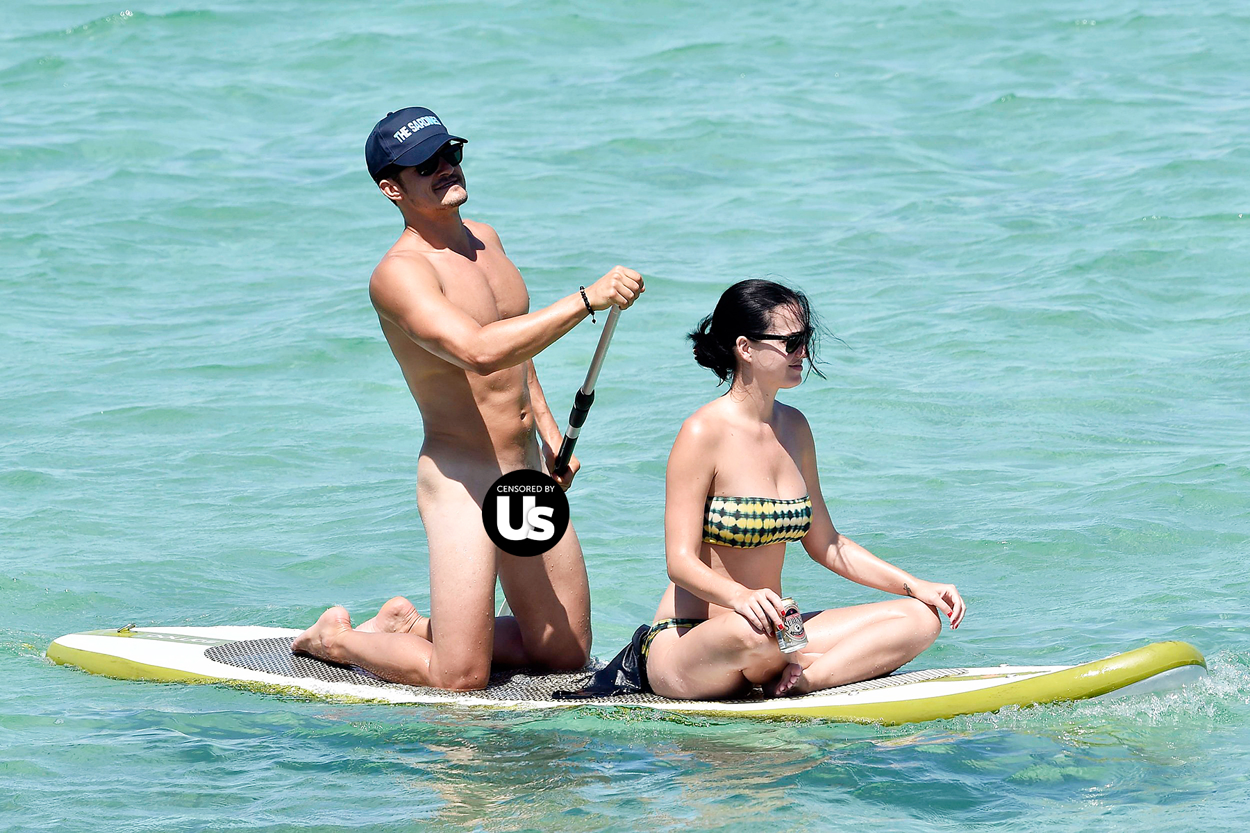 Orlando Bloom Katy Perry paddleboarding