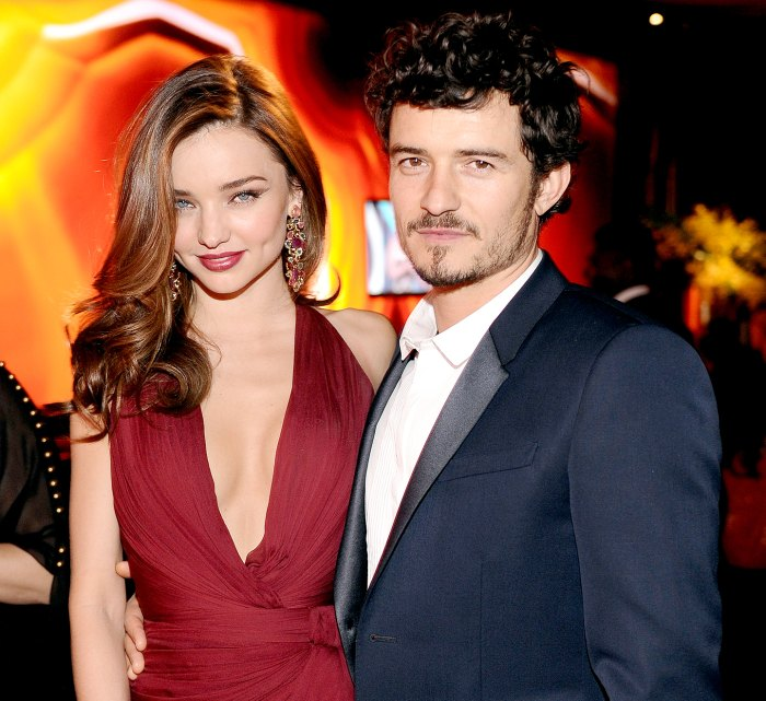 Miranda Kerr and Orlando Bloom attend the 2013 InStyle and Warner Bros. 70th Annual Golden Globe Awards Post-Party held at the Oasis Courtyard in The Beverly Hilton Hotel on January 13, 2013 in Beverly Hills, California.