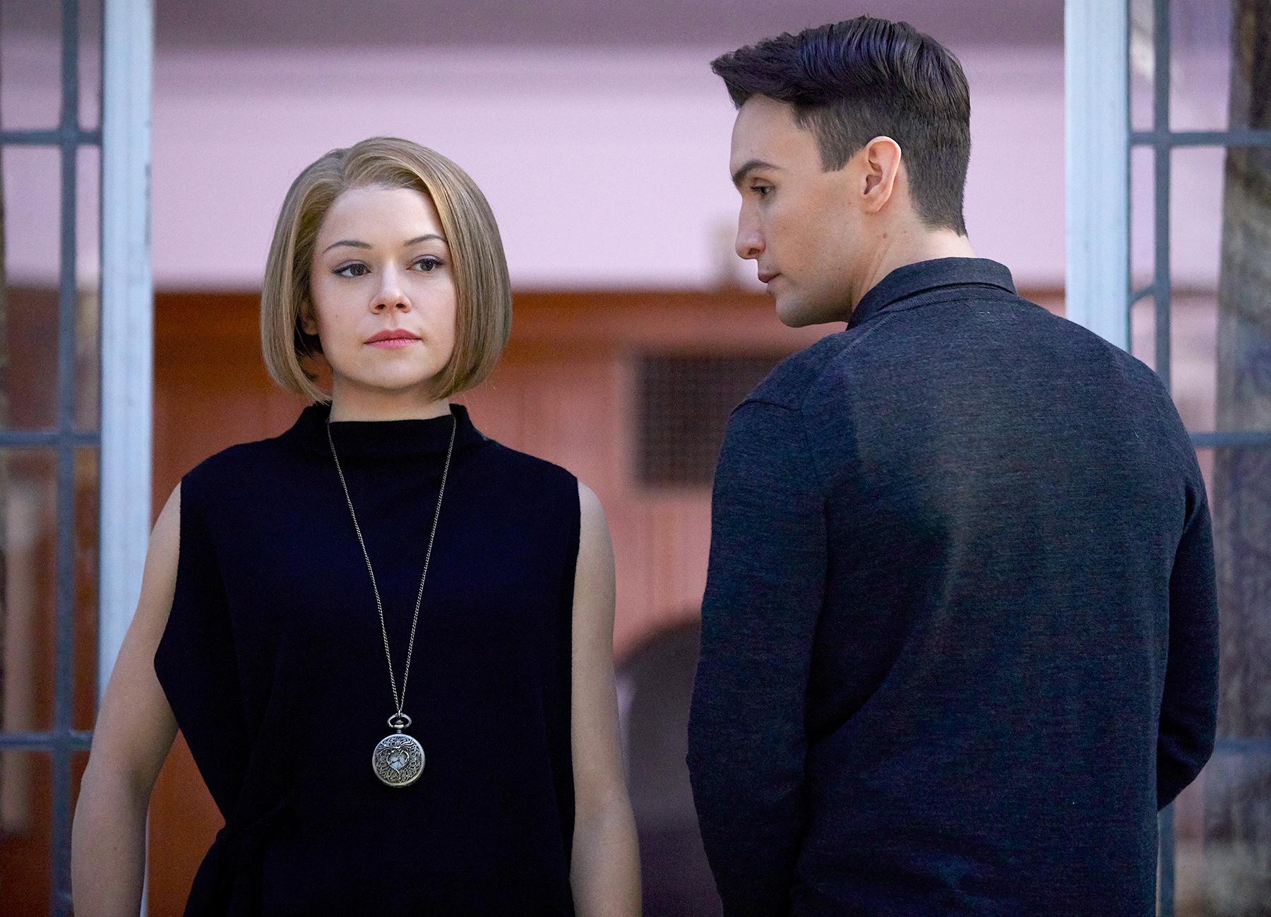 Rachel (Tatiana MAslany) and Ira (Ari Millen)
