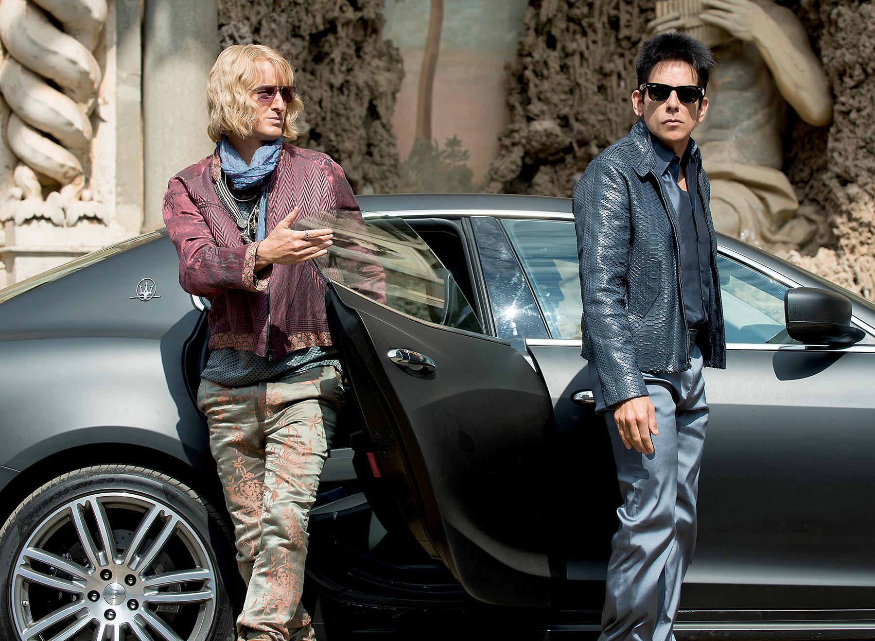 Owen Wilson plays Hansel, and Ben Stiller plays Derek Zoolander in 'Zoolander 2.'