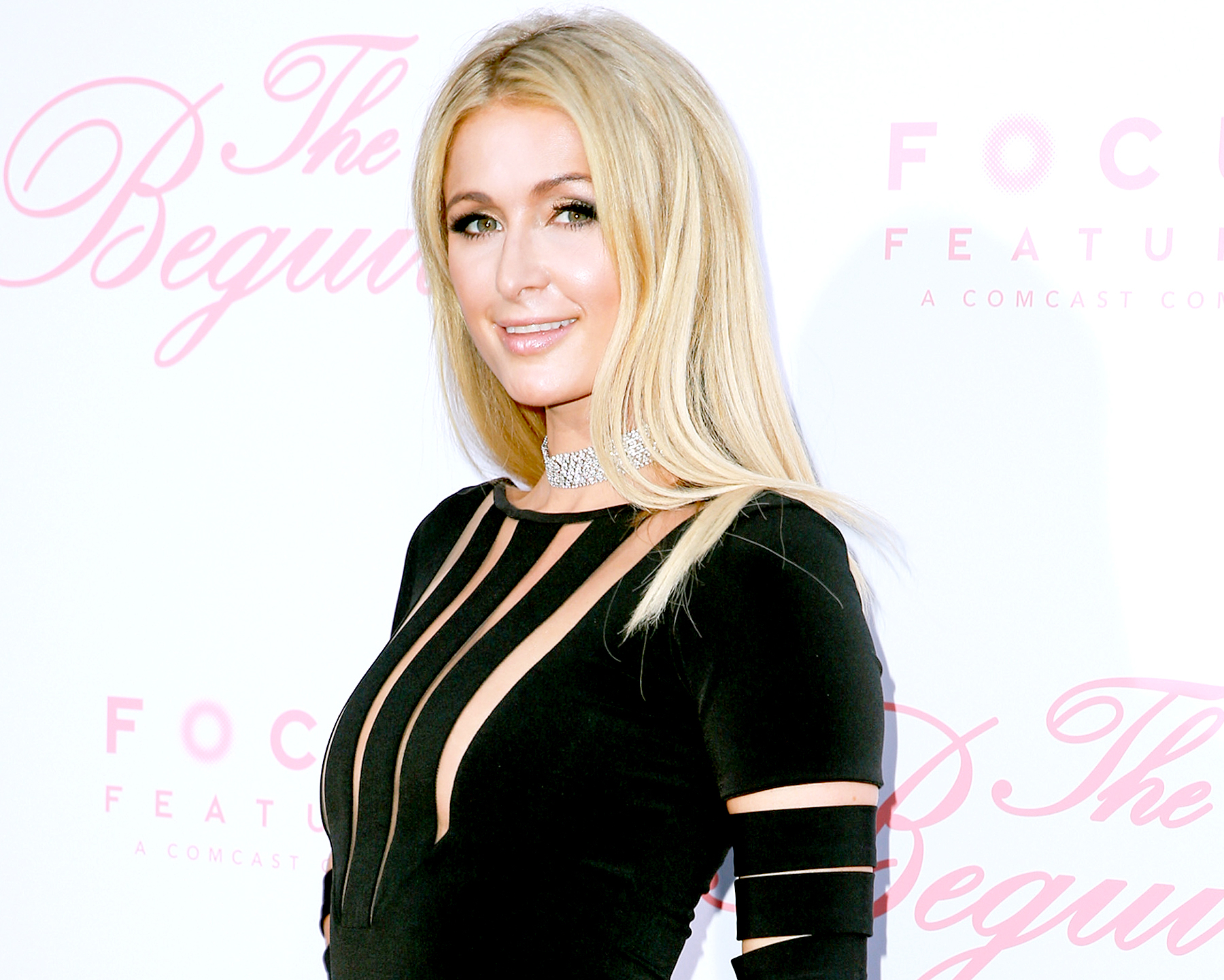 "Paris Hilton attends the premiere of Focus Features' ""The Beguiled"" at Directors Guild Of America on June 12, 2017 in Los Angeles, California."