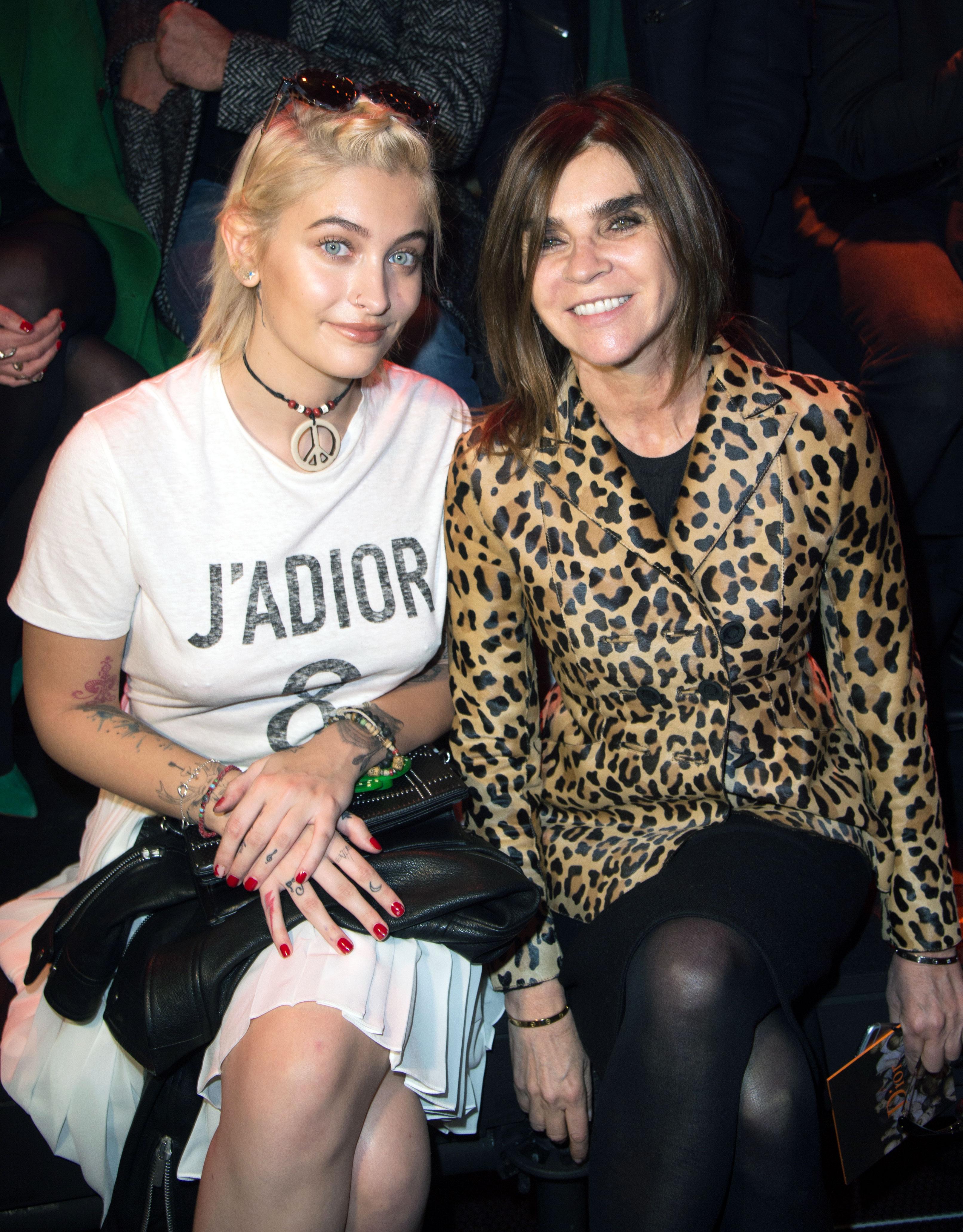 Paris Jackson and Carine Roitfeld