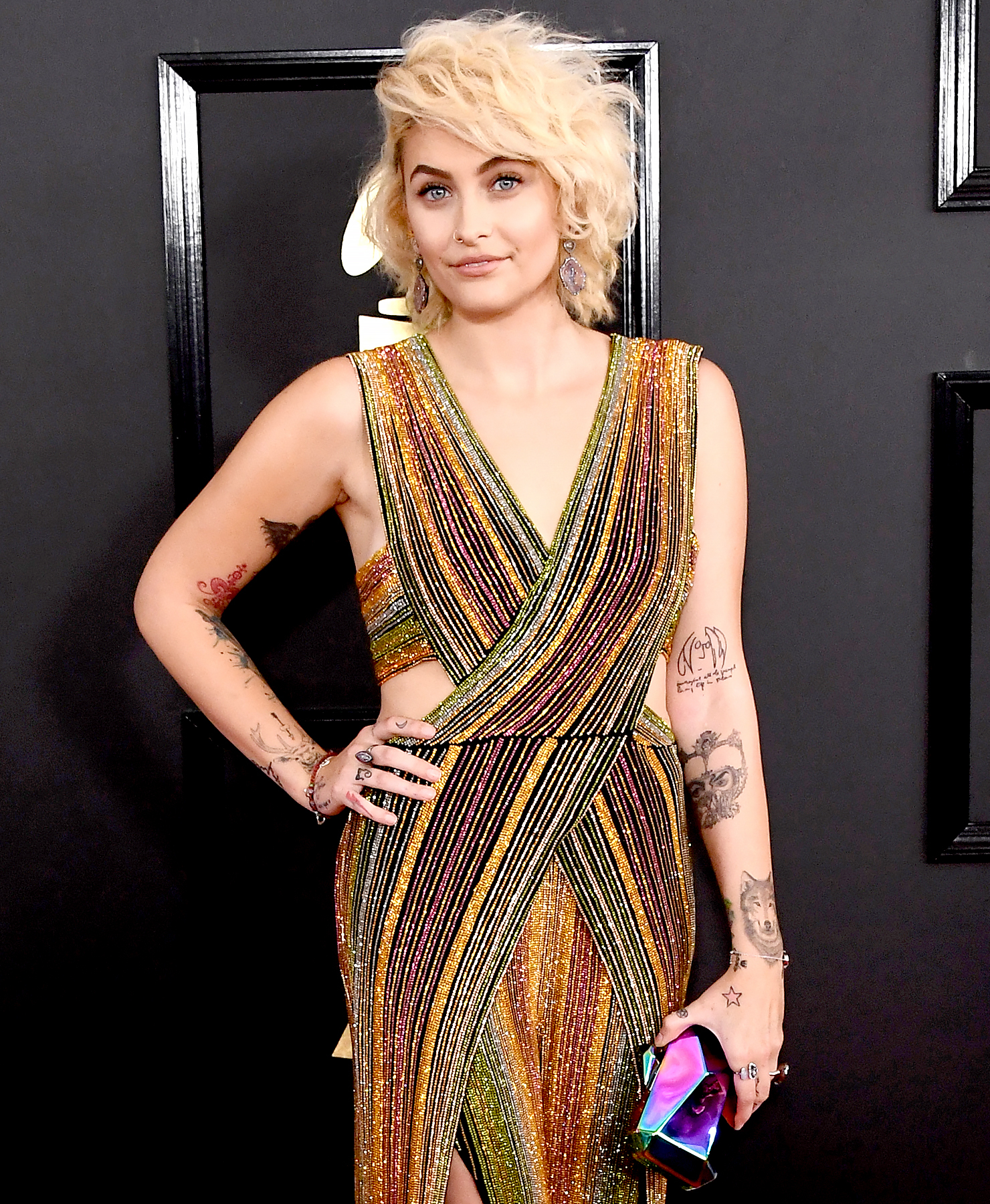 Paris Jackson attends The 59th GRAMMY Awards at STAPLES Center on February 12, 2017 in Los Angeles, California.