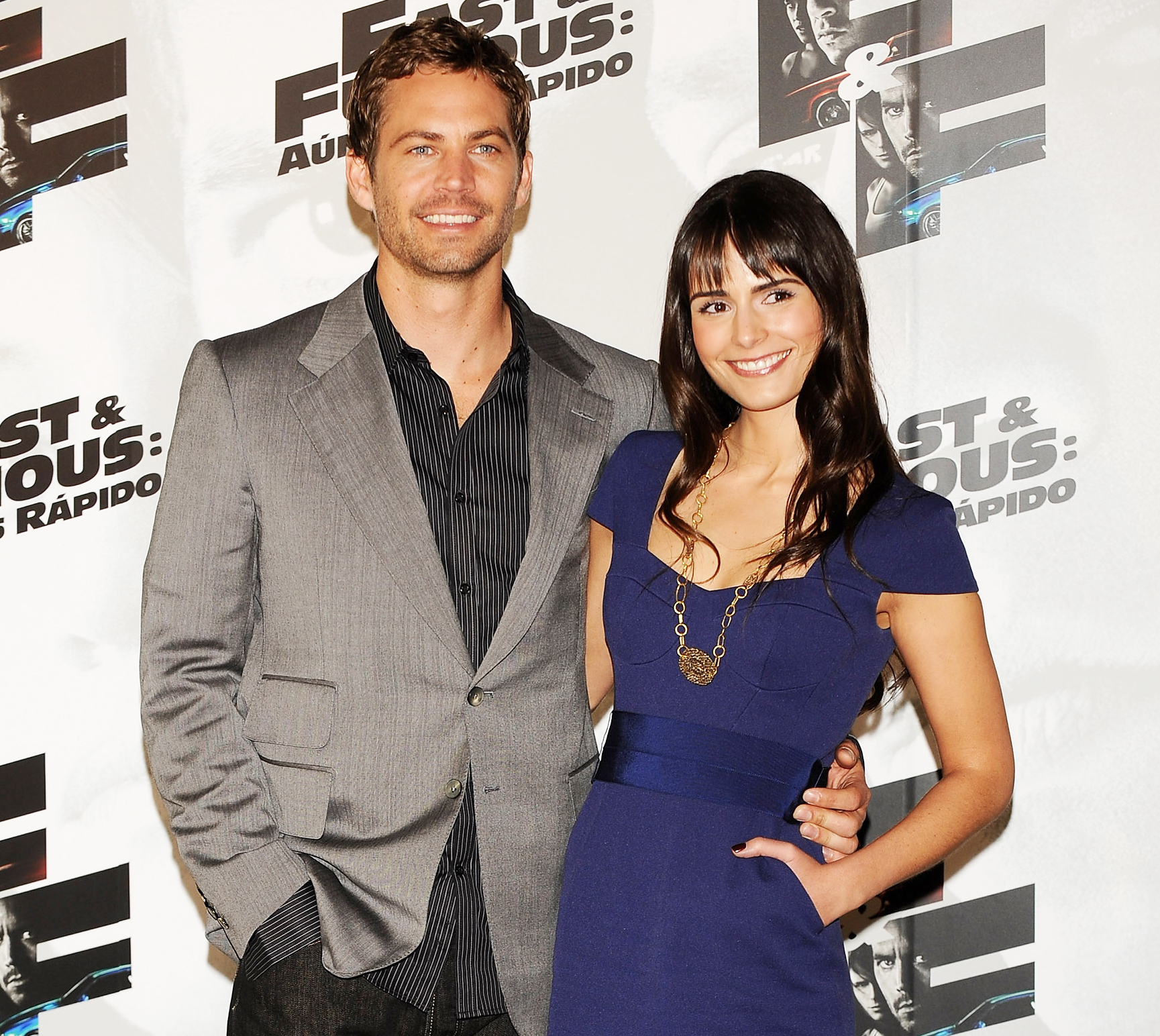 Paul Walker and Jordana Brewster attend Fast and Furious photocall at the Santo Mauro Hotel on March 25, 2009 in Madrid, Spain.