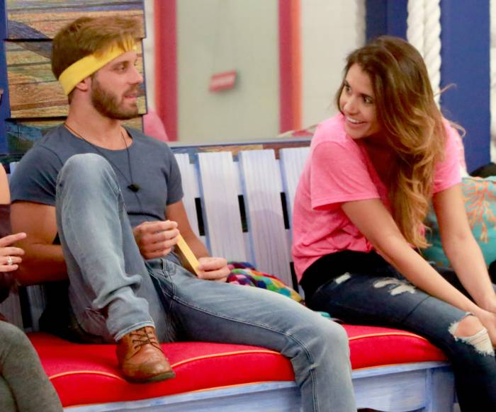 Paulie Calafiore and Tiffany Rousso on Big Brother.